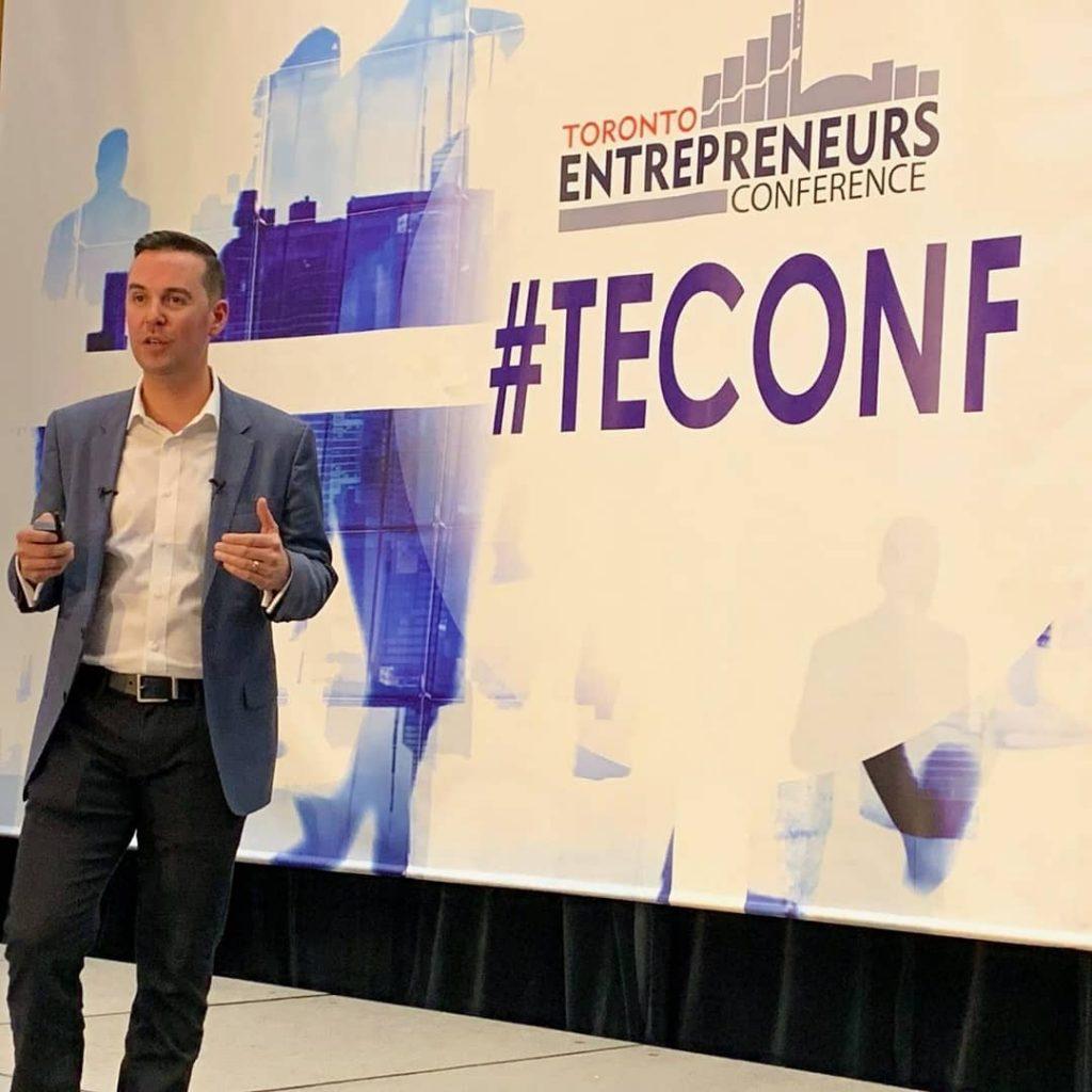 Robert Bob Gauvreau speaking at Toronto Entrepreneurs Conference