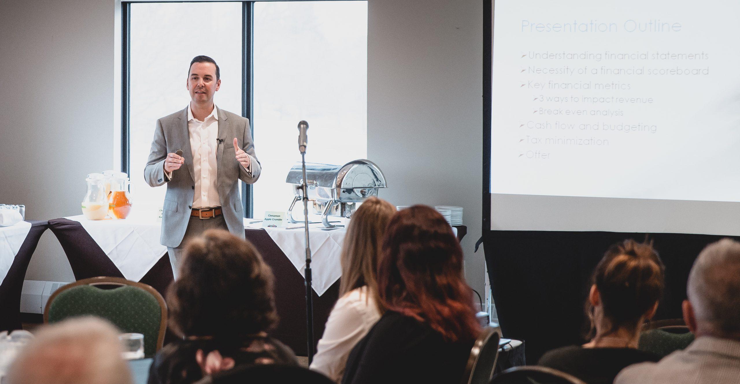 Robert Bob Gauvreau Speaking Engagement with Entrepreneurs