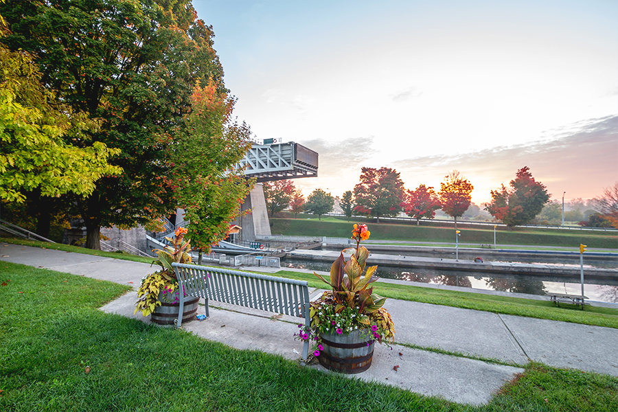 Locks located in downtown Peterborough