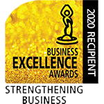 2020 Recipient Business Excellence Awards Strengthening Business Logo