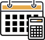 Calendar and Calculator Bookkeeping Icon